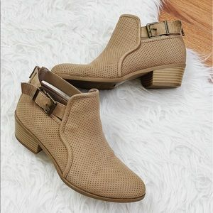 Express Ankle Brown Buckle Booties